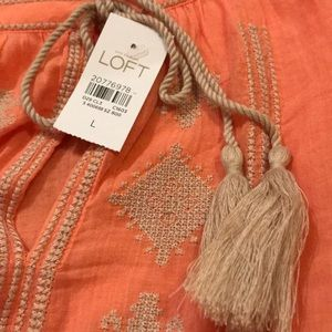NWT ANN TAYLOR LOFT LONG SLEEVE TOP. Size Large